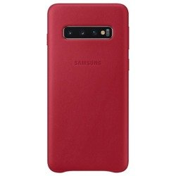 Etui Samsung Leather Cover Czerwony do Galaxy S10 (EF-VG973LREGWW)